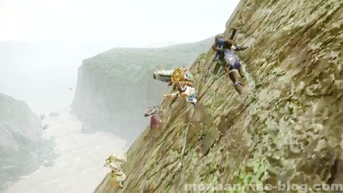 モンハンライズ「翔蟲」アクション:壁走り①