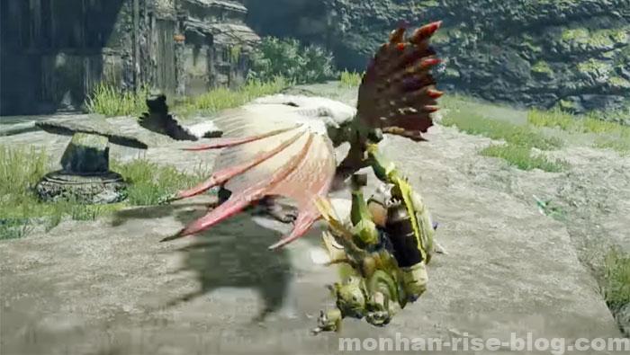 モンハンライズ「翔蟲」アクション:翔蟲受け身①
