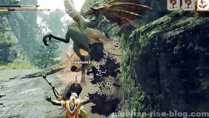 傘鳥「アケノシルム」:モンスターの攻撃④