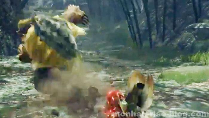 青熊獣「アオアシラ」:モンスターの攻撃①