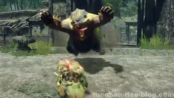青熊獣「アオアシラ」:モンスターの攻撃③