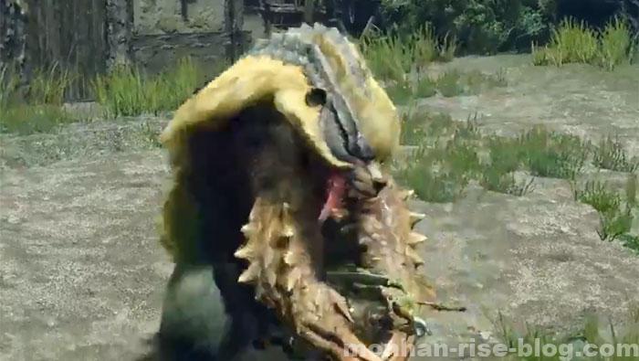青熊獣「アオアシラ」:モンスターの攻撃④