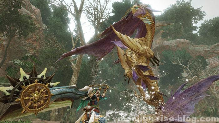 人魚竜「イソネミクニ」:水中飛び上がり攻撃