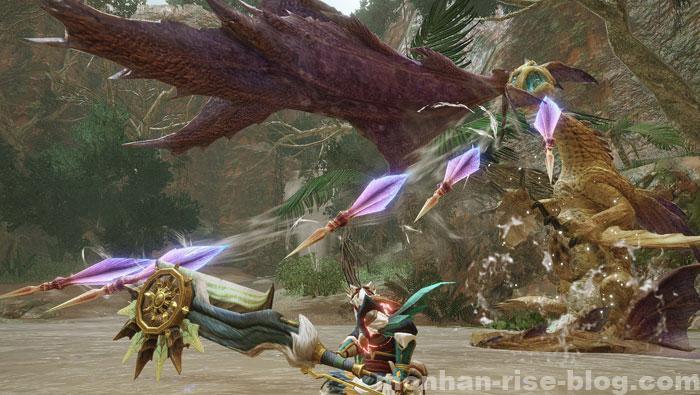 人魚竜「イソネミクニ」:棘飛ばし攻撃