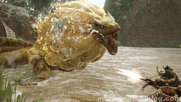 水獣「ロアルドロス」:モンスターの攻撃①