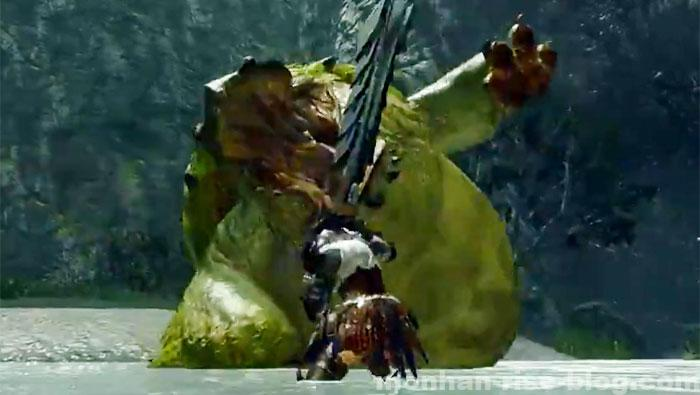 河童蛙「ヨツミワドウ」:モンスターの攻撃方法①