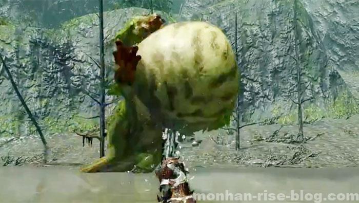 河童蛙「ヨツミワドウ」:モンスターの攻撃方法③