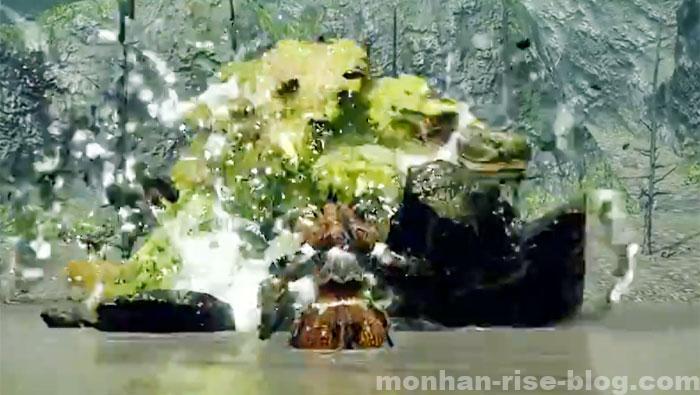河童蛙「ヨツミワドウ」:モンスターの攻撃方法④
