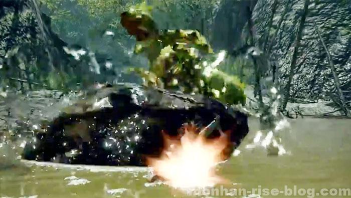 河童蛙「ヨツミワドウ」:モンスターの攻撃方法⑨