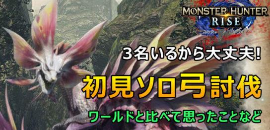 モンハンRISE体験版 - 初見弓ソロ討伐