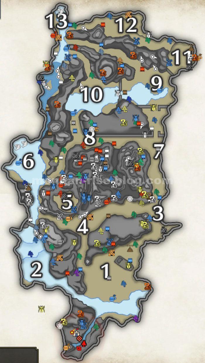 「大社跡」の採集MAP:「特産品・鉱石・キノコ等」の採集ポイント